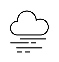 Cloud and fog icon vector