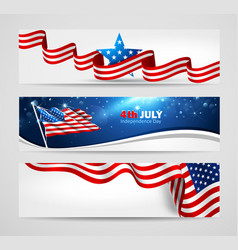 collection of banners for independence day vector image