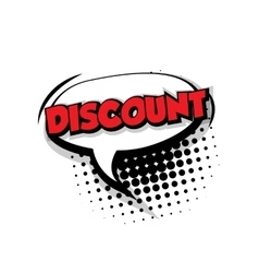 Comic text discount sound effects pop art vector image