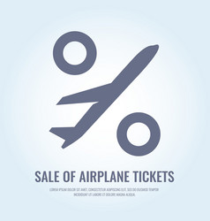 Conceptual poster sales and discounts of airplane vector