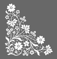 corner lace vector image