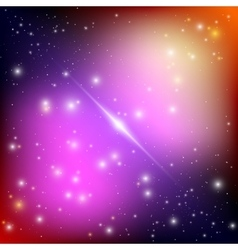 Cosmic galaxy background with bright shining stars vector
