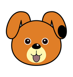 cute dog cute animal faces vector image