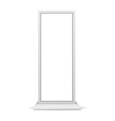 digital signage mockup with blank screen isolated vector image
