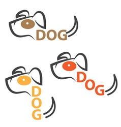 Dog design template with text vector