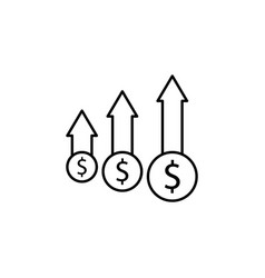 dollar arrow up icon element of finance signs vector image