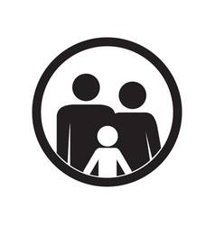 family icon parents and kid vector image