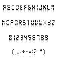 Fine digital font vector image vector image
