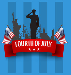 fourth of july independence day background with vector image