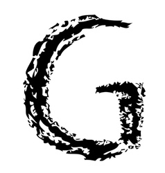 G Brushed vector image
