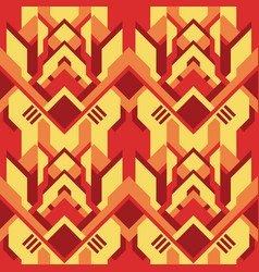 Geometric seamless abstract ethnic pattern vector