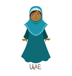 girl in united arab emirates country national vector image