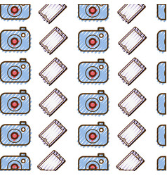 grated digital camera and smartphone technology vector image