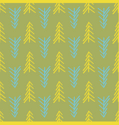 green herringbone tree seamless repeat pattern vector image