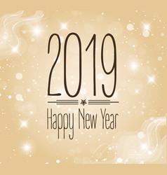 Happy new year 2019 vector