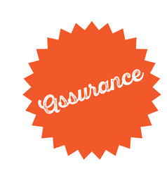 insurance stamp on white vector image
