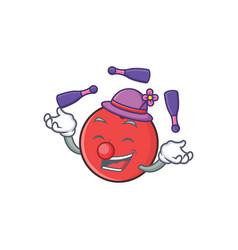 juggling bowling ball character cartoon vector image