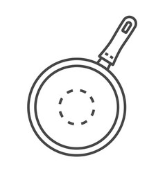 kitchen griddle icon outline style vector image