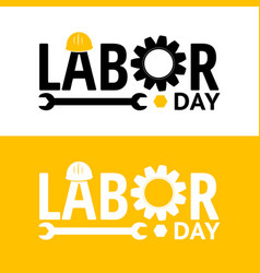 Labor day design elements icon label badge vector