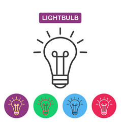 lightbulb isolated line icon pictogram vector image