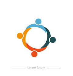logo company with synergy flat design on white vector image