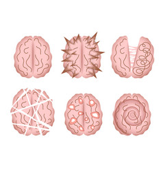 Mental disorder icons vector