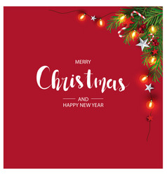 modern holidays christmas background banner vector image