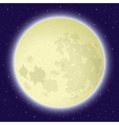 Moon in space vector
