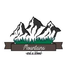 Mounitains color emblem vector image