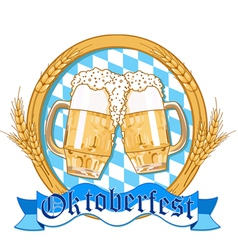 Oktoberfest label design vector image