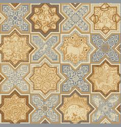 Oriental tiles seamless pattern vector