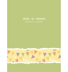 party decorations bunting vertical torn seamless vector image