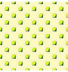 Pattern Background with Limes vector image