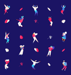 people dancing and playing musical instruments on vector image