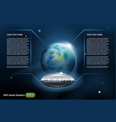 planet earth in space template vector image