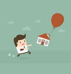 real estate bubble vector image