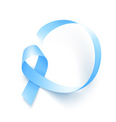 realistic blue ribbon world prostate cancer day vector image