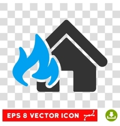 Realty Fire Damage Eps Icon vector