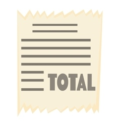 Receipt icon cartoon style vector