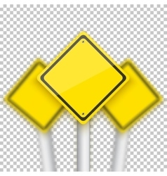 Road red stop sign with blurred signs vector