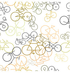Seamless abstract outline of bicycle generative vector