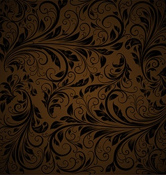 Seamless Brown Floral Background vector