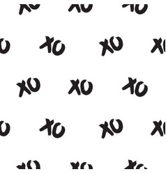 Seamless pattern with xoxo words vector