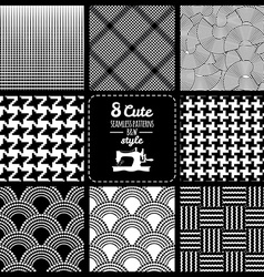 Seamless set fabric pattern vector