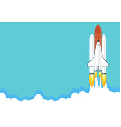 space shuttle launch business or vector image