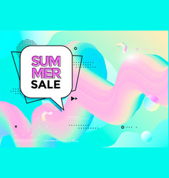 summer sale banner pastel color trendy pop art vector image