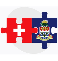 Switzerland and Cayman Islands vector