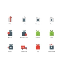 technology presents color icons on white vector image