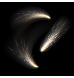 Transparent white star trail with particles vector