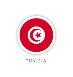 Tunisia circle flag template design vector